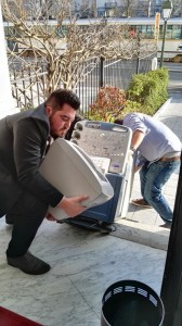 Carrying the Ultrasound Machine to the Embassy